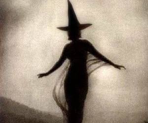 photograph, sepia tone, and halloween witch image