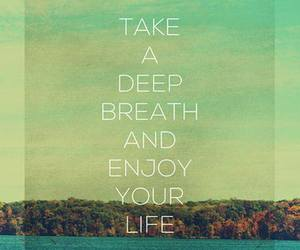 life, quote, and enjoy image