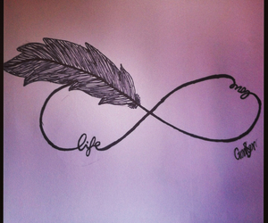 infinity, life, and love image