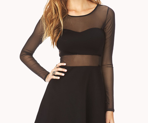 black, dress, and cute image