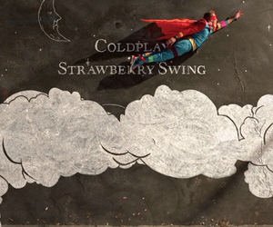 coldplay, strawberry swing, and Chris Martin image