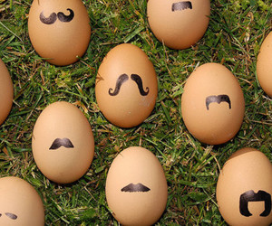eggs, mustache, and moustache image