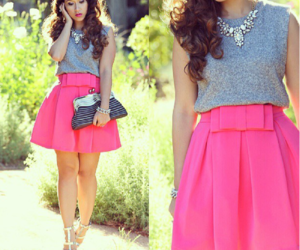 cute skirt, outfit, and style image