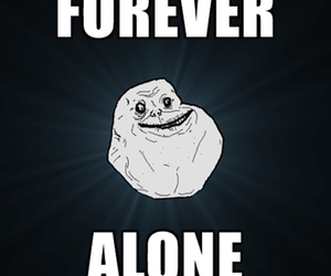 funny, forever alone, and vayaina image