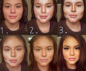 makeup, transformation, and ugly image