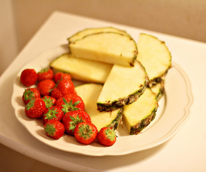 food, healthy, and pineapple image