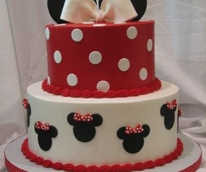 cake, red, and minnie image
