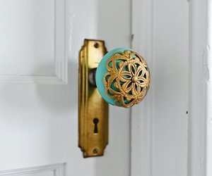 door, gold, and home image