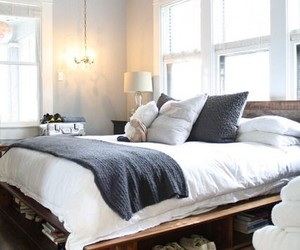 bed, bedroom, and home image