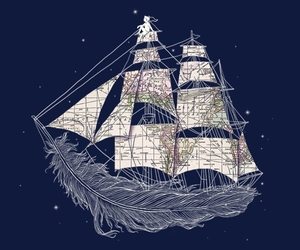 feather, boat, and ship image