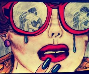 love, cry, and sad image