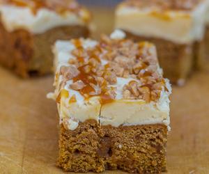 blondies, buttercream, and caramel image