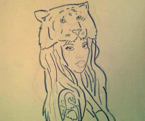 draw, girl, and tatto image