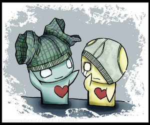 pon and zi, heart, and sweet image