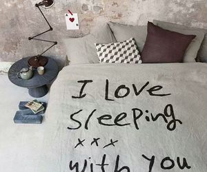bed, love, and design image
