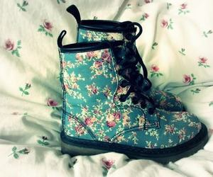 shoes, boots, and flowers image