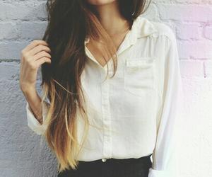 dip dye, fashion, and girl image