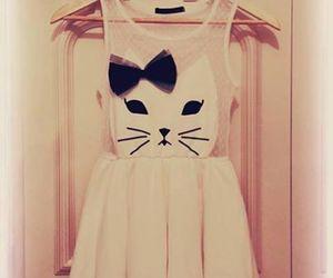 dress, fashion, and cat image