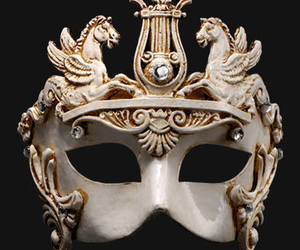 mask, masked ball, and venetian mask image