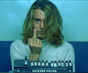 blow, johnny depp, and flicking off image