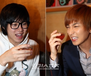 drink, heechul, and talks image