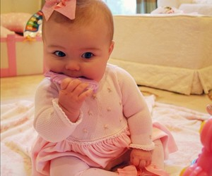 baby, pink, and sweet image