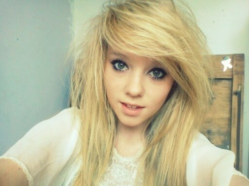 Emo girl blond hair