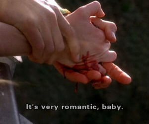 blood, natural born killers, and romantic image