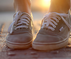vans, shoes, and sun image