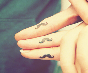 edit, tattoo, and moustache image