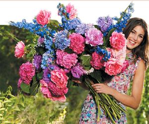 flowers, Cynthia Rowley, and girl image