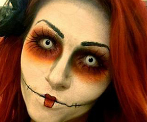 Halloween, makeup, and muneca image