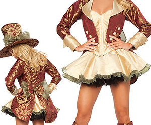 costume, mad hatter, and alice in wonderland image