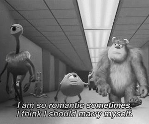 funny, romantic, and monsterinc image