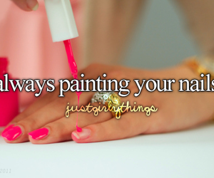beautiful, girl, and nailpolish image