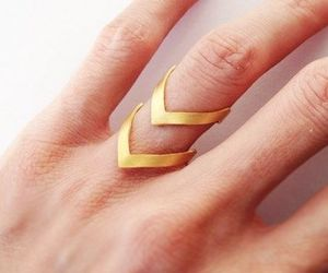 gold, ring, and emerald image