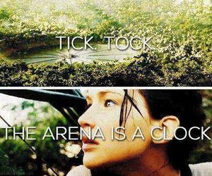 catching fire, katniss everdeen, and clock image