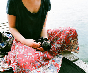 camera, girl, and indie image