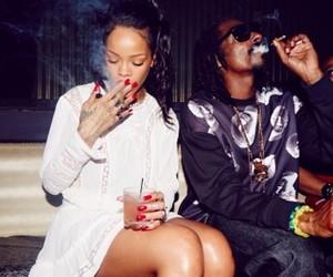 rihanna, smoke, and weed image