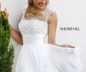 white, sherri hill, and sherri hill 4302 image