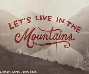 mountains, oregon, and trees image