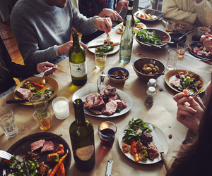 food, friends, and dinner image