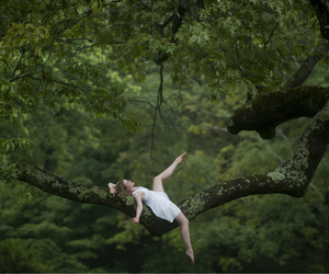 dance, nature, and forest image
