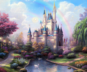 art, castle, and fairytale image