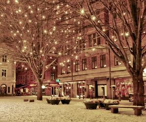 light, snow, and winter image