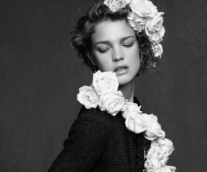 chanel, flowers, and model image