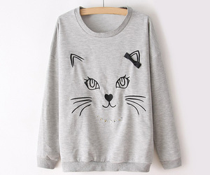 cat, fashion, and grey image
