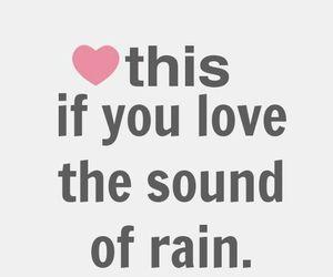 rain, sound, and heart image