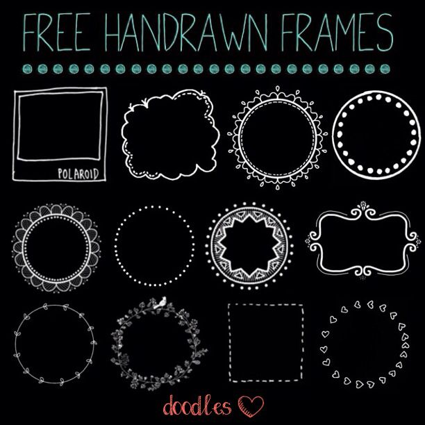 FREE Hand Drawn Frames For Your Photos On Instagram Tumblr Blog More