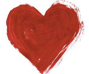 heart, paint, and art image